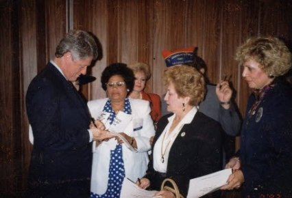 Vera and President Clinton